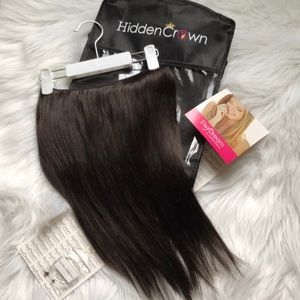 "Hidden Crown Hair Extensions! 14"" Brown"